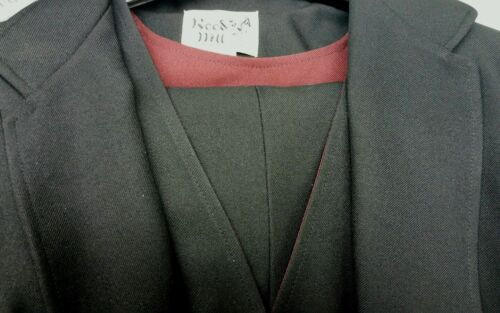 Reed Hill Ladies 3 piece Saddleseat suit Solid Black polyester size 8 - USA