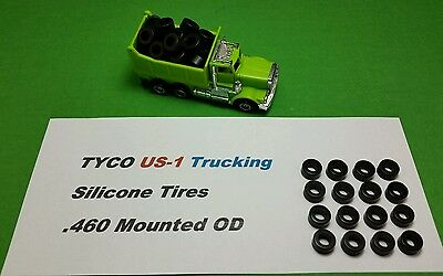 TYCO US-1 Trucking silicone tires 16 piece Lot .460 mounted HO slot car