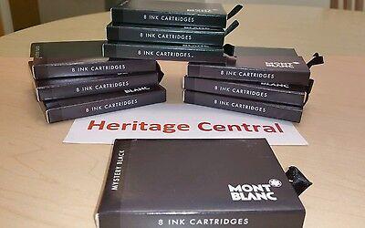 Mont Blanc 105191 Mystery Black Ink Cartridges 1 BOX (8 Pack) Fountain Pen NEW!](mont blanc ink cartridges)