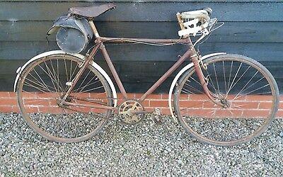 Vintage racer road bike steel frame 1940's bicycle l'eroica project