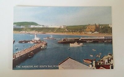 The Harbour and South Bay. Scarborough. Postcard