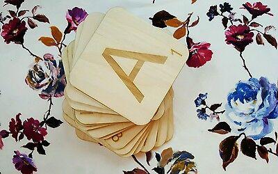 Large (6cm) Wooden Scrabble Tiles - Craft, Wedding Signage & Outdoor Games!