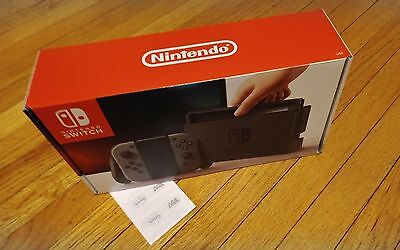 """""""Unpatched' NEW Nintendo Switch - 32GB Gray Console (with Gray Joy-Con)"""