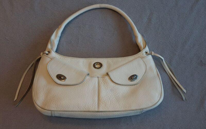 7c7a6add6d92 Beautiful The Original Car Shoe by Prada White Leather Handbag ...