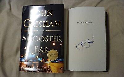 Signed John Grisham The Rooster Bar Book Legal Thriller Novel Law Firm Hc Dj 1 1