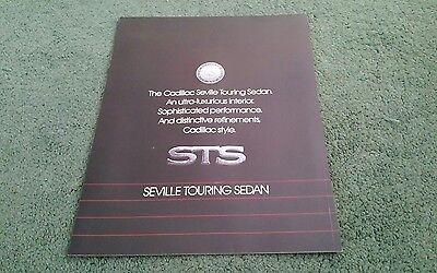 February 1988 CADILLAC SEVILLE STS TOURING SEDAN - USA CARD FOLDER BROCHURE