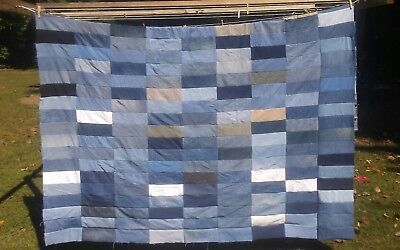 Denim/ Jean Queen Size Quilt Top 84X94