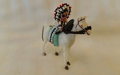 WOW! Vintage Native American Indian Beaded Doll Riding Horse Souvenir