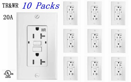 20 AMP GFCI (GFI) Receptacle Outlet -TAMPER RESISTANT - WHITE UL GFCI  (10PACK)