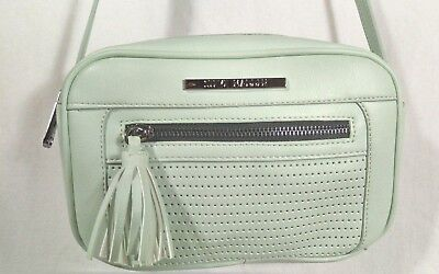 STEVE MADDEN Mint Cross Body Leatherette w/ Tassels Small Shoulder Bag NWT $58 Leatherette Womens Shoulder Bag