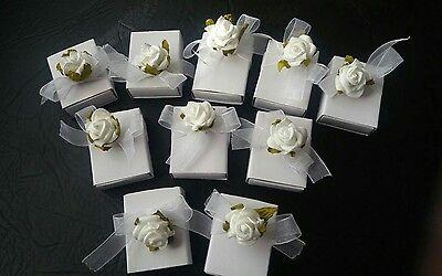 n weiße Überraschung Tauf Gastgeschenk Hochzeit Geschenkbox  (Mini-geschenk-boxen)