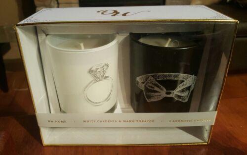 New Boxed Gift Set of 2 Wedding Candles Gardenia & Warm Toba