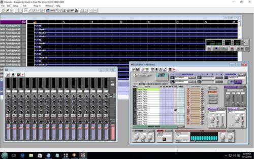 YAMAHA S-YXG50 XG/GS/GM Virtual MIDI Player &  MIDI Editor + FREE 50k MIDI Files