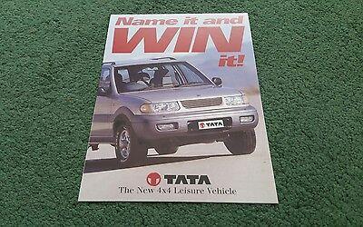 1998 TATA SAFARI PRE LAUNCH NAME IT AND WIN IT COMPETITION UK FOLDER BROCHURE