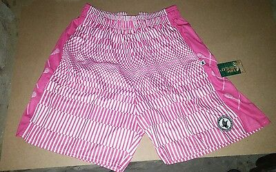NWT Flow Society Adult m medium FRAGMENT pink white Lacrosse Shorts