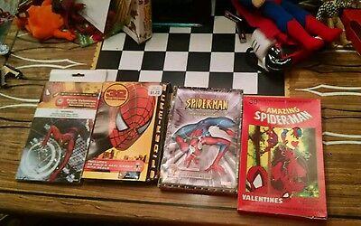 Marvel Spiderman Valentines Lot 1990 2001 2004