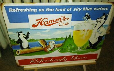 HAMM'S BEER CLUB SIGN REFRESHING AS THE LAND OF SKY BLUE WATERS BAR MAN CAVE...