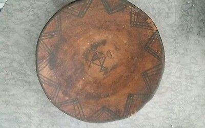 Extremely Primitive Hand Formed Tribal Pottery Bowl 10 1/4