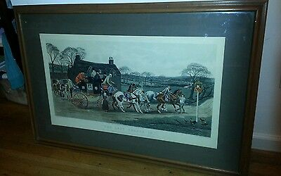 "The Last Change In STAGECOACH Painted by Walsh Engraved by Stochl 41 1/4"" Long"