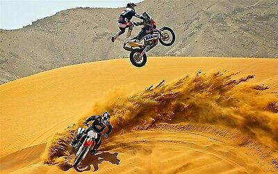 "MOTOCROSS DIRT BIKE JUMP SPORT PHOTO ART PRINT POSTER 21""x13"" 103"