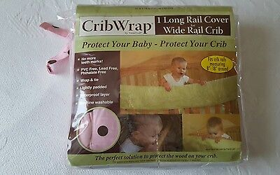 "New Trend Lab Crib Wrap Front Rail Cover 51"" Maya Dot Percale Pink"