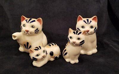 Vintage Cat Creamer Sugar Bowl Salt & Pepper Set Henriksen Imports