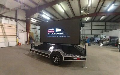 Led Billboard Trailer P8 With Hydraulic Lift. Super Bright