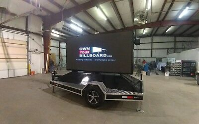 Led Billboard Trailer P6 With Hydraulic Lift. Super Bright