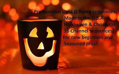 16 channel Lightorama sequences. Halloween or Christmas package. 5 for $35.00. - Halloween Sequences
