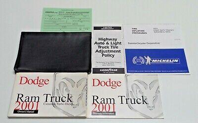2001 DODGE RAM CUMMINS DIESEL 5.9L OWNERS MANUAL 2500 3500 LARAMIE ST SLTs 4X4x2