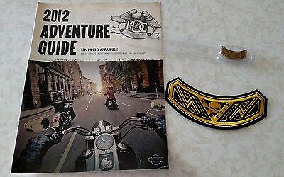 HARLEY DAVIDSON OWNERS GROUP HOG 2012 Skull Rocker Patch Pin Adventure Guide
