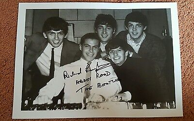 RICHARD LANGHAM THE BEATLES ABBEY ROAD SOUND ENGINEER SIGNED PHOTO PHOTOGRAPH