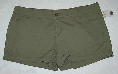 JR Womens ARMY GREEN MINI SHORTS Five Pocket LOW RISE 100% Cotton SIZE (Five Pocket Low Rise Shorts)