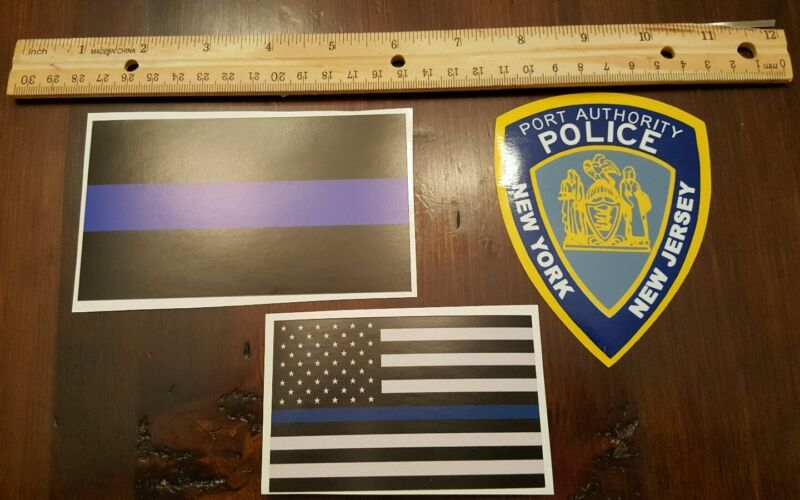 1 Port Authority police Inside decal + 1 of each outside thin blue line as shown
