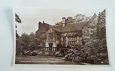 Woodsome Hall (Golf Club) Huddersfield. RP. Postcard
