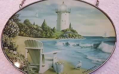 (Lighthouse Suncatcher THE PERFECT PLACE Artwork by Alan Giana)