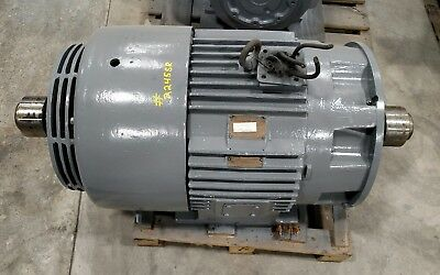 General Electric 100 Hp Electric Motor Dual Shaft Model 5ks444sn3004v 2245sr