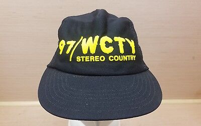 Vintage 97 WCTY Stereo Country Snap Back Mesh Trucker radio promo hat  ()
