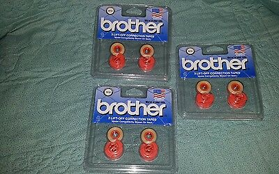 Brother Lift-off Correction Tape 3010 - 2 Pack - Lot Of 3 - Total Of 6 Tapes