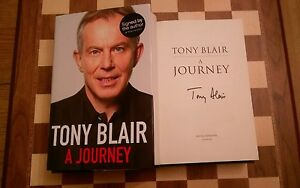 A Journey Tony Blair SIGNED Hardback Autobiography 2010 Prime Minister 1st/5th