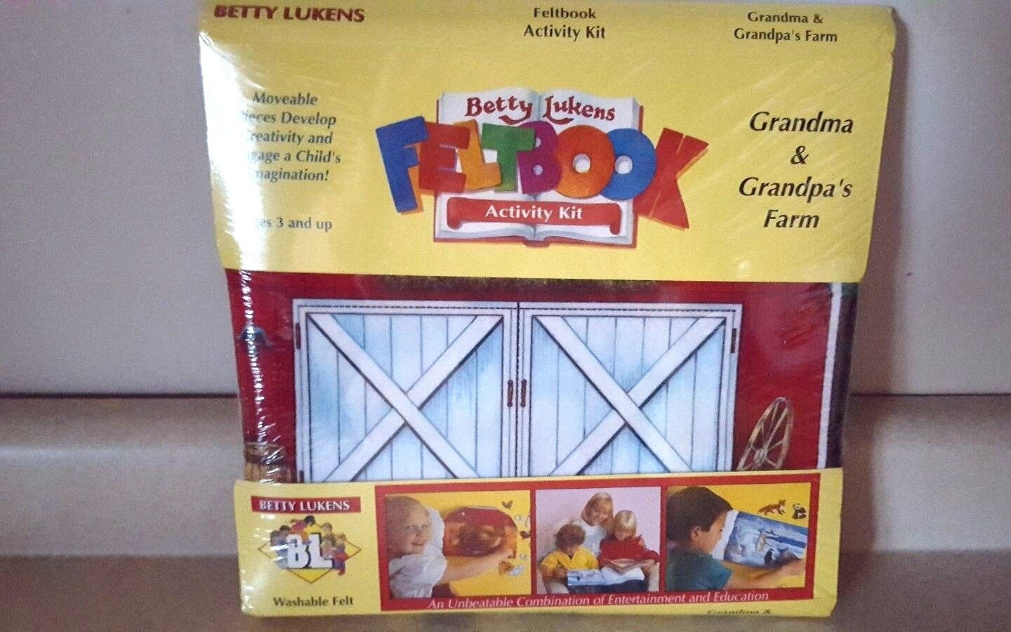 Купить NEW Betty Lukens Felt Activity Book Kit GRANDMA & GRANDPA'S FARM