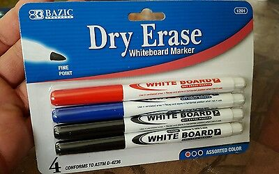 Dry erase whiteboard markers 4 pack