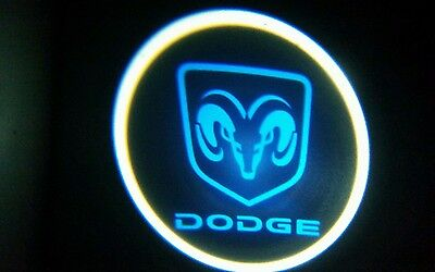 2 x LED Logo Light Ghost Shadow Projector Car Door Courtesy Laser DODGE ram