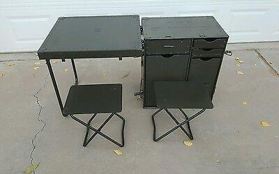 New US Military GI Field Desk Army USMC Industrial Steampunk Vintage Decor