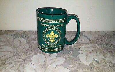 Prairielands Council Boy Scout Ceramic Green Mug by M Ware