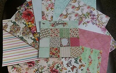 12 sheets of BOHEMIAN LUXURY CRAFT PAPERS
