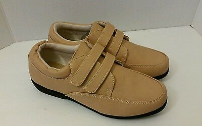 Valley Lane Womens Double Strap  Oxford Shoes Camel 9M New Free Shipping