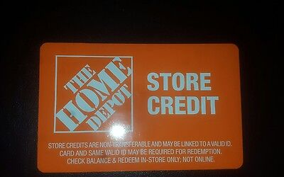 Home Depot Gift Card merchandise return card $328.18