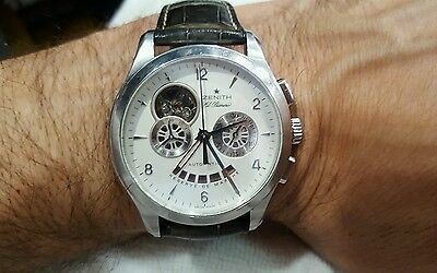 ZENITH EL PRIMERO Watch Gents Stainless 4021  43mm White Papers Skeleton Auto
