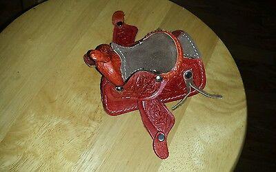 One Breyer Johnny West Miniature Saddle  Tooled Leather Western Novelty